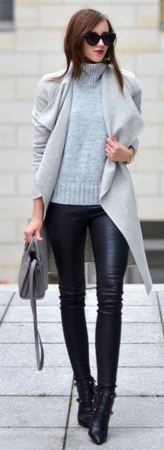 Take a look at 25 casual winter outfits for work that are warm and stylish in the photos below and get ideas for your own outfits! Like the boots with the high socks – should wear my blue or cream iris… Continue Reading → Cute Fall Outfits, Winter Fashion Outfits, Fall Winter Outfits, Autumn Fashion, Work Outfits, Outfit Work, Work Attire, Business Outfit, Business Casual Outfits