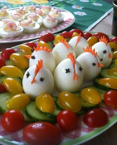 12 Easy And Adorable Easter-Themed Snack Ideas Osterfrühstück ♥ stylefruits Inspiration ♥ Easter Snacks, Easter Treats, Easter Recipes, Holiday Recipes, Easter Food, Easter Salad, Recipes Dinner, Holiday Ideas, Easter Dinner