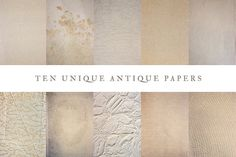 10 Unique Antique Paper Pack by Theresa Cummings on @creativemarket