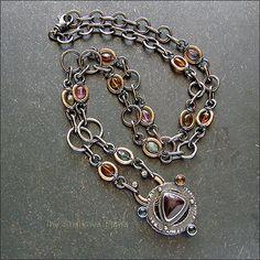 Strukova Elena - авторские украшения - Ожерелье с турмалинами