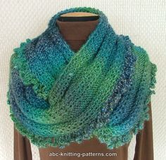 ABC Knitting Patterns - Gypsy Cowl with Bead Ruffle