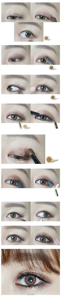 asian gyaru-style eyeshadow tutorial