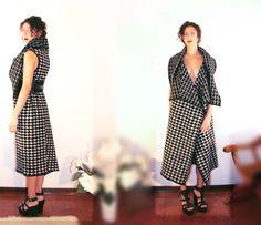 Alessia Tonolo Fashion Designer woolen long vest