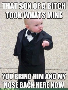 Haha I love doing that to kids :p