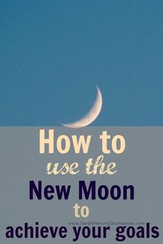Learn about the new moon and how you align your goals to make magic happen with the help of the new moon.Start a new project, a task or a set a goal with the rising, lifting and empowering energy of a new lunar cycle.