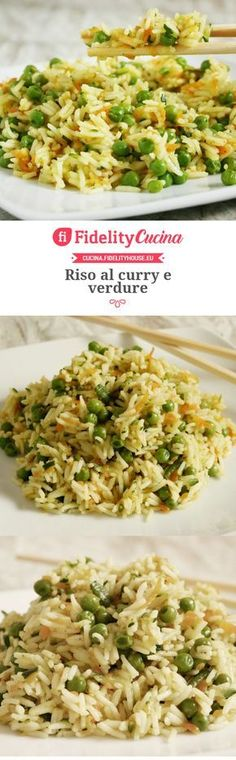 Curry rice and vegetables Veggie Recipes, Wine Recipes, Vegetarian Recipes, Chicken Recipes, Healthy Recipes, Healthy Cooking, Healthy Eating, Risotto Recipes, Oriental
