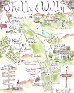 hand drawn wedding maps | Bride De Force