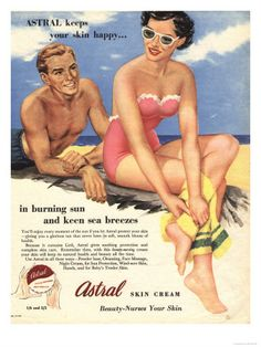 Vintage Astral skin cream advert