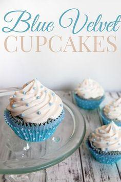 Blue Velvet Cupcakes with Easy Vanilla Buttercream Frosting