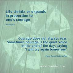 Over moed. Niet te verwarren met overmoed...