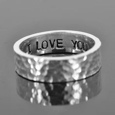 His and her promise personalized secret message 7mm by JubileJewel, $55.00