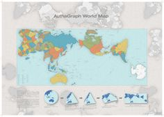 AuthaGraph World Map. A new world map reengineered to represent the true relative sizes of continents & seas. The Winner of 2016 GOOD DESIGN GRAND AWARD in Japan What The World, Our World, Accurate World Map, New World Map, Continents And Oceans, Institute Of Design, Map Globe, Us Map, Map Design
