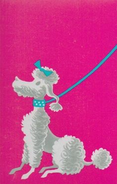 Vintage 1950s Poodle Playing Card