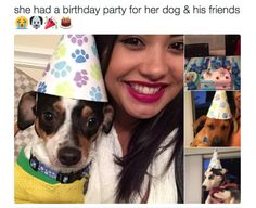 When you celebrate your dog's birthday:   17 Pictures That Are Literally You As A Dog Owner