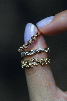 30 Stunning Wedding Bands For Women ❤️ wedding bands for women white yellow rose gold vintage ❤️ See more: http://www.weddingforward.com/wedding-bands-for-women/ #weddingforward #wedding #bride #engagementrings #weddingbands