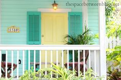 front door colors and using Key West front doors for inspiration - the space between