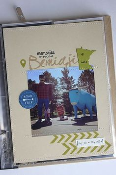 Memories From Bemidji Layout by Heather Nichols for Papertrey Ink (July 2014)