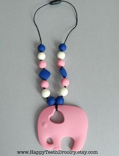 ***Made to Order***    This beautiful necklace is handmade, with silicone teething beads that are BPA free. Safe for Baby and stylish for