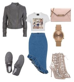 No new friends by sophistaglam on Polyvore featuring polyvore, fashion, style, MICHAEL Michael Kors, Keds and Topshop