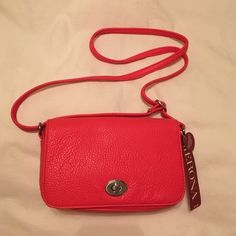 Cross body purse Coral cross body purse with adjustable strap Merona Bags Crossbody Bags