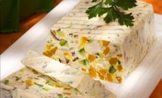 terrine, queijo, legumes, pão, torrada, receita Mais