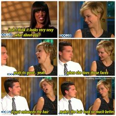 Josh Hutcherson on Jennifer Lawrence's hair:)