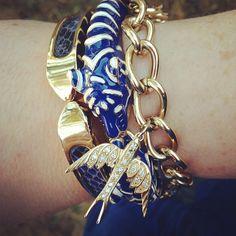 Beyond beautiful. Emerson bangle, Lakra Bangle, and Wonderland Charm Bracelet by Stella & Dot. Photo by Kathy Chaney.
