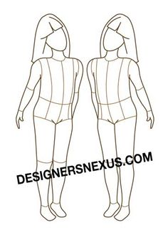 Children Fashion Figure - Free download - possibly to use for designing American Girl Doll Outfits.