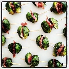 Roasted Brussels Sprouts and Prosciutto Bites | 101 Bite-Size Party Foods