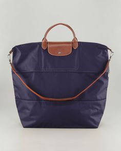 Le Pliage Expandable Travel Bag, Bilberry by Longchamp at Neiman Marcus.
