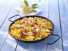 Paella ist ein Rezept mit frischen Zutaten aus der Kategorie Südfrucht. Probieren Sie dieses und weitere Rezepte von EAT SMARTER!