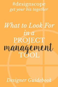 What to Look for in a Project Management Tool and Why You Need One! Learn what a project management tool is and more in this #designscope video.