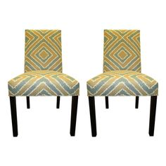 Nouveau 6 -Button Tufted Dining Chairs (Set of 2)   Overstock.com