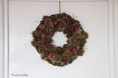 Christmas Wreath / Decoración de navidad handmade para darle un toque especial a tu casa.