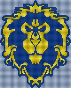 Embroidery Bracelets Patterns World of Warcraft Perler Bead Pattern Beaded Cross Stitch, Modern Cross Stitch, Cross Stitch Embroidery, Cross Stitch Patterns, Beginner Embroidery, World Of Warcraft, Warcraft Art, Lilo And Stitch Ohana, Pix Art