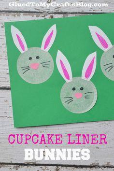 Cupcake Liner Bunnies {Kid Craft}