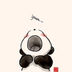 "Yawn~"" Graphic T-Shirts by Panda And Polar Bear | Redbubble"