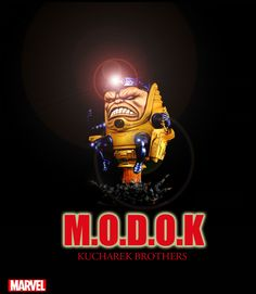 Modok Marvel Statue designed and sculpted by the Kucharek brothers
