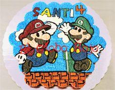 Pastel de cupcakes de Mario Bros. https://www.facebook.com/elgloborojomx