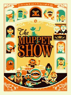 Muppets It was illustrator Tom Whalen who first introduced us to Dave Perillo. Both have that retro style that makes you nostalgic for the past but they Tom Whalen, Illustration Tumblr, Retro Illustrations, Backgrounds Wallpapers, Monster Squad, Non Plus Ultra, Fraggle Rock, The Muppet Show, Retro Poster