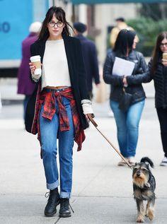 How to Wear Dr. Martens: Dakota Johson