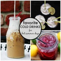 Beat the heat with these favorite cold drinks for hot summer days. Includes perfect iced coffee, low-fuss sangria, frozen coconut lime slushes, and more.