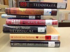 Red/Porch Lights/On Chelsea Beach/Fade/The Crystal Cave/Where We Belong/Until It's Over.  Bonnie's book spine poem!
