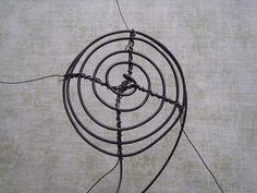 Výroba malého drátěného košíčku Wire, Abstract Art, Sculpture