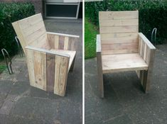 Cute Diy Step-by-step Tutorial: Pallet Garden Chair  #diy #garden #palletchair #recyclingwoodpallets #tutorial This tutorial by Mark Valkenburg will giveyou the step-by-step instructions to built your own garden chair out of three to four wooden pallets (you ...