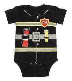 Baby Firefighter Diaper Shirt