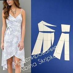 hi low dress pattern Easy Sewing Patterns, Clothing Patterns, Dress Patterns, Fashion Sewing, Diy Fashion, Fashion Dresses, Hi Low Dresses, Elegant Dresses, Formal Dresses