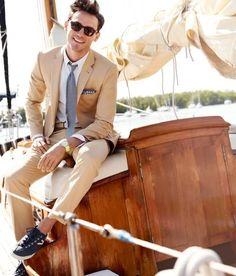 wedding parties, men styles, summer suits, summer style, men fashion, style men, men suits, pocket squares, boat