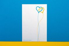 With Love from Ukraine Greeting card Two hearts Air