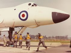 Avro Vulcan B2 at the National Cold War Exhibition. Untitled Vulcan & crew in a QRA (Quick Reaction Alert) scramble.